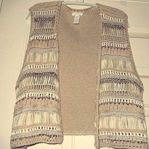 Rare Chico's textured vest - unique & beautiful